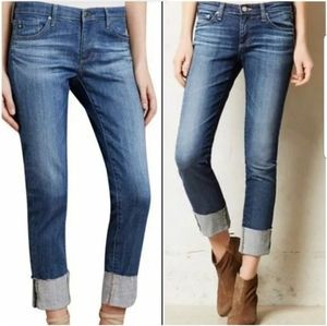 AG Adriano Goldschmied Slim Straight Cuffed Jeans